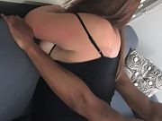 Black man pummeling and dumping his load in a wifes pussy