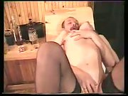 Alina in sauna luving threesome sex with her husband and his friend
